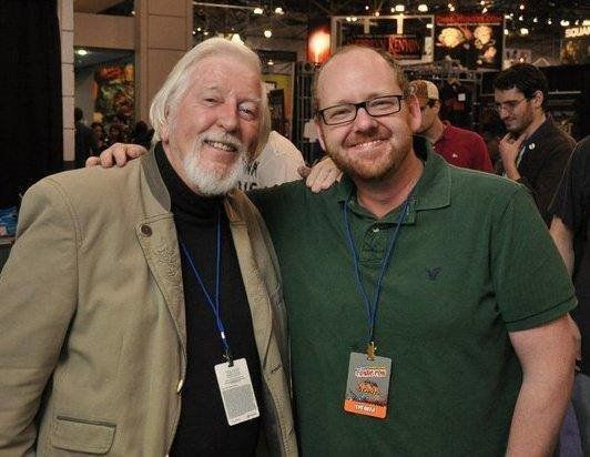 Jamie and Caroll Spinney, the performer for Big Bird and Oscar the Grouch.