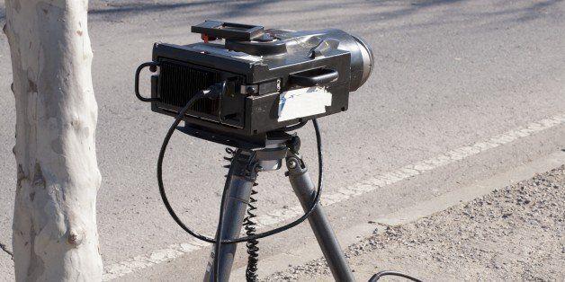 mobile traffic radar located in ...