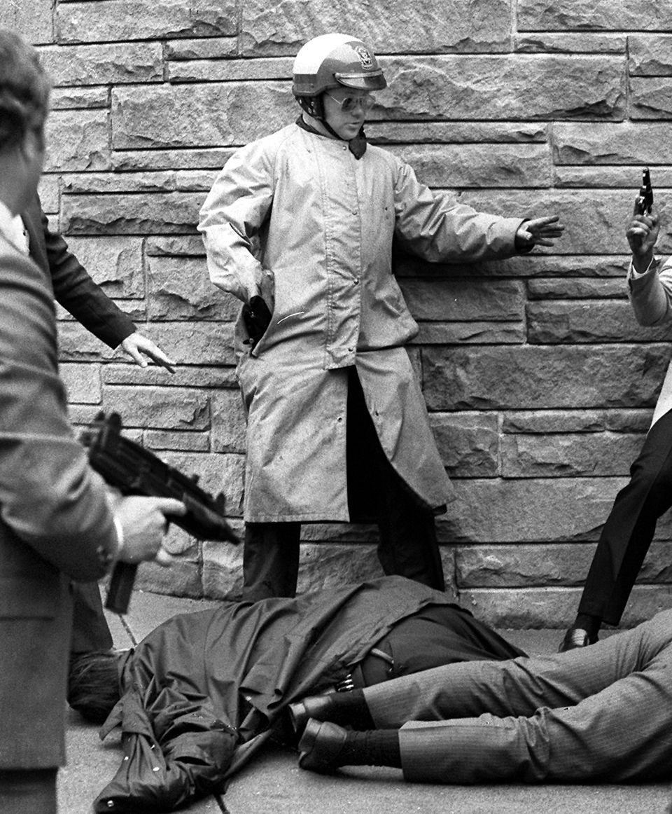on March 30, 1981, President Reagan and three others were shot and wounded in an assassination attempt by John Hinckley, Jr.