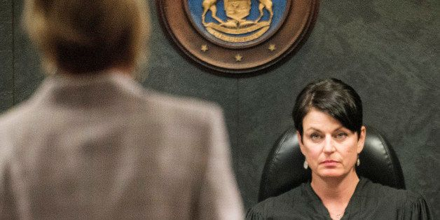 Oakland County Family Court Judge Lisa Gorcyca listens to attorneys arguments during the continuing court battle between Maya