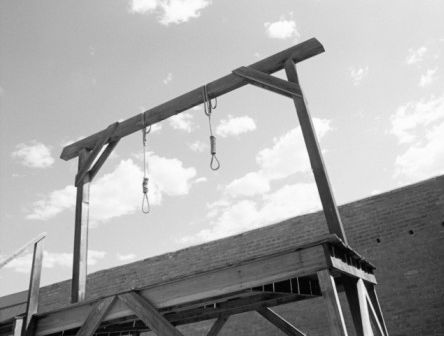 George Brown is first person executed in Texas, by hanging.