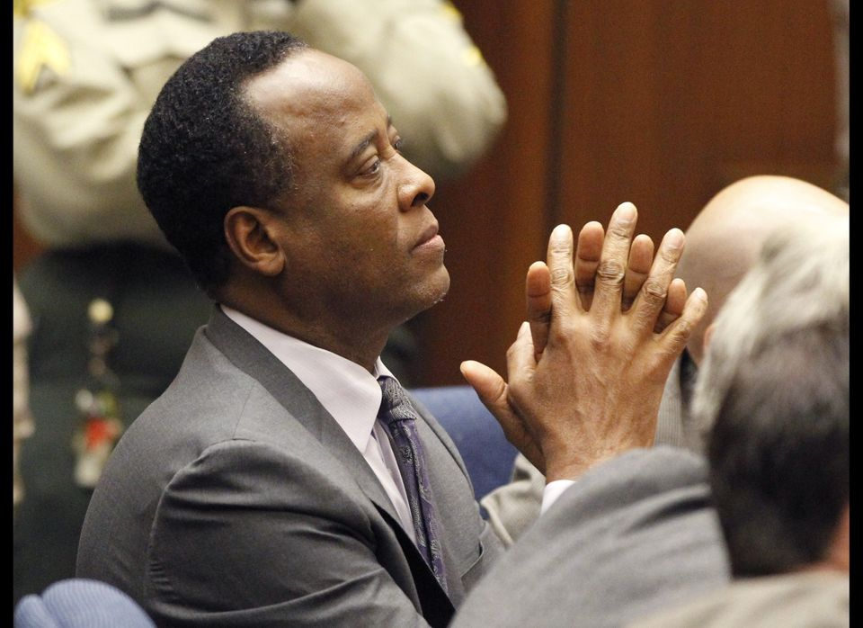 LOS ANGELES, CA - NOVEMBER 29:  Dr. Conrad Murray sits in court after he was sentenced for the involuntary manslaughter of si