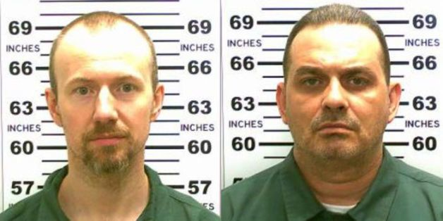 UNDATED:   In this handout from New York State Police, convicted murderers David Sweat (L) and Richard Matt are shown i n thi
