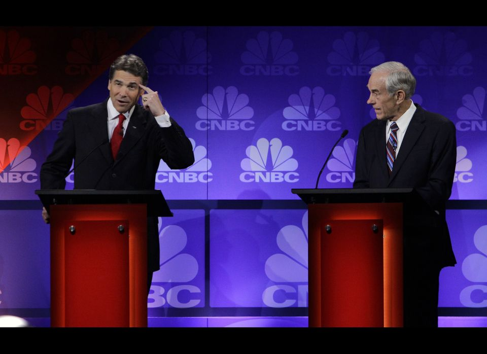 "At the CNBC debate on November 9, Perry <a href=""https://www.huffpost.com/entry/rick-perry-oops-video_n_1085336"" target=""_hpl"