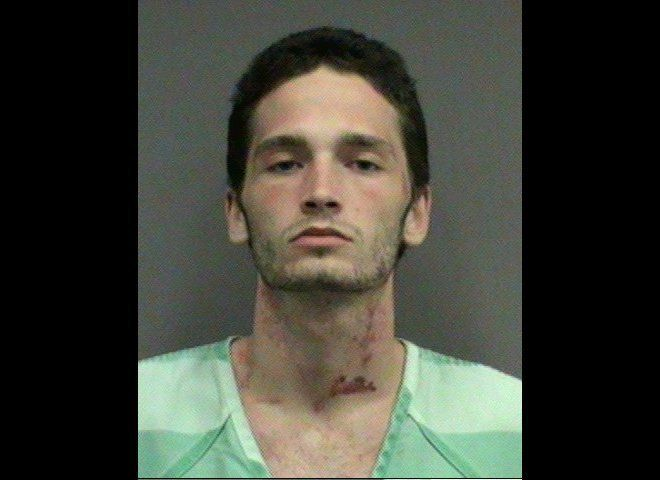 Brandon Chviek, 20, was arrested for allegedly assaulting his girlfriend after she broke his bong.