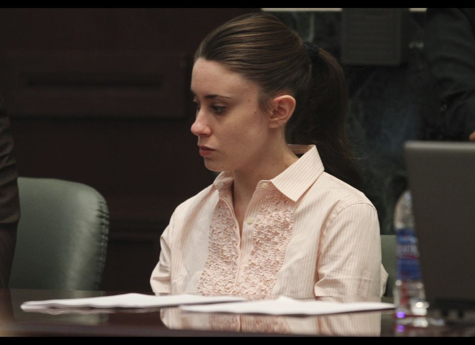 Casey Anthony waits in the courtroom for the jury to return with the verdict in her murder trial at the Orange County Courtho