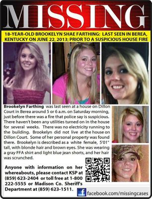 Brookelyn Fathing, Missing Teen, Texted Friend: 'I'm Scared