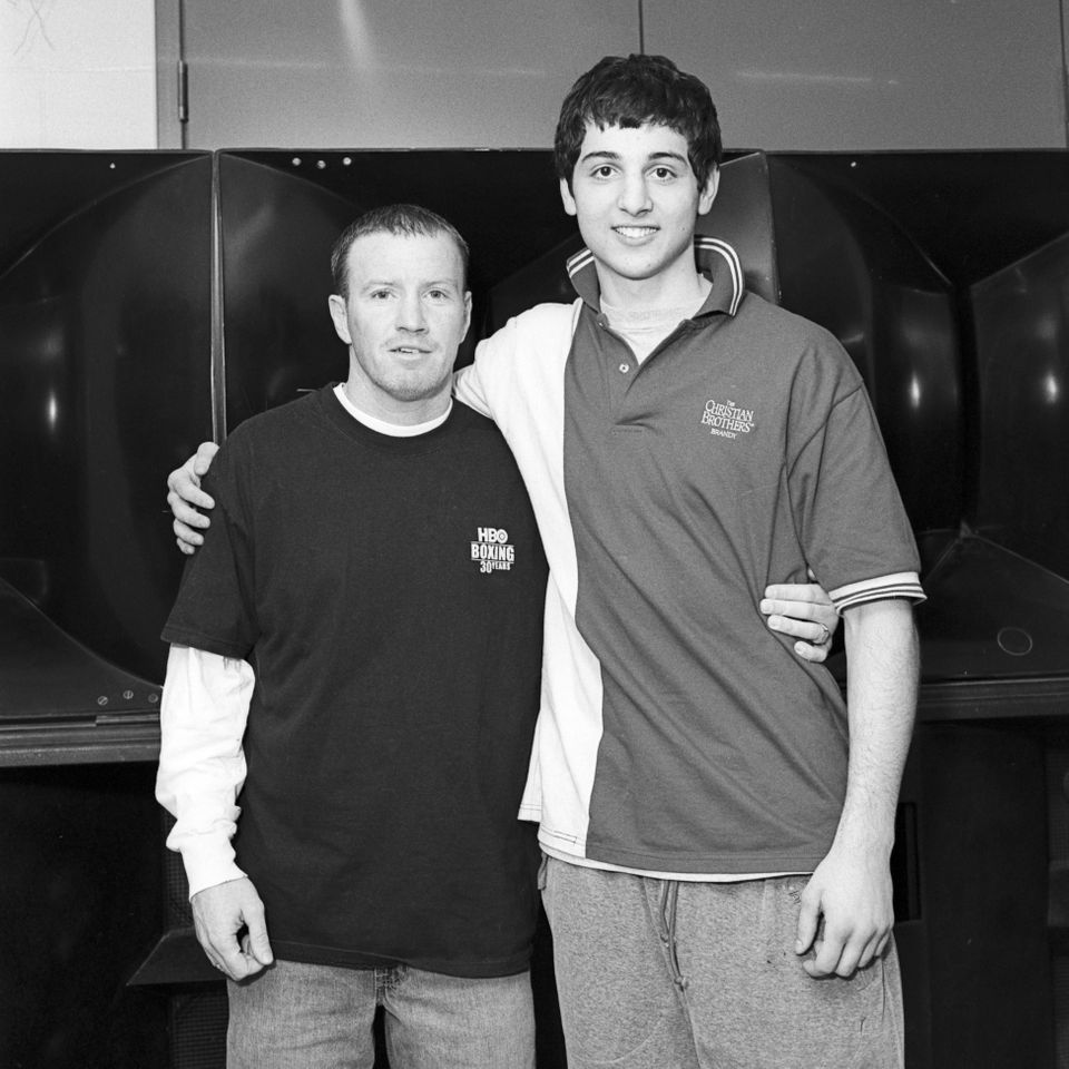 Tamerlan Tsarnaev, with Micky Ward, former professional boxer, at Golden Gloves in Lowell, Mass. in 2006.