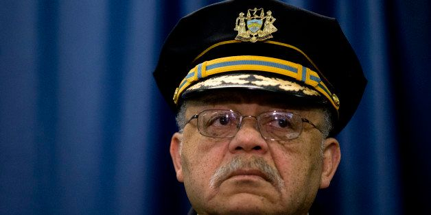 Philadelphia Police Commissioner Charles Ramsey listens during a news conference Monday, March 23, 2015, in Philadelphia. Poo