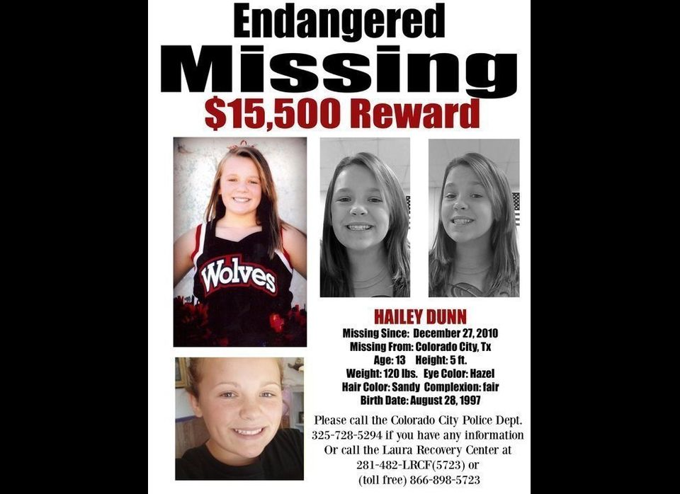Hailey Dunn, a 13-year-old student at Colorado City Middle School in Texas, was last seen on the afternoon of Dec. 27, 2010.