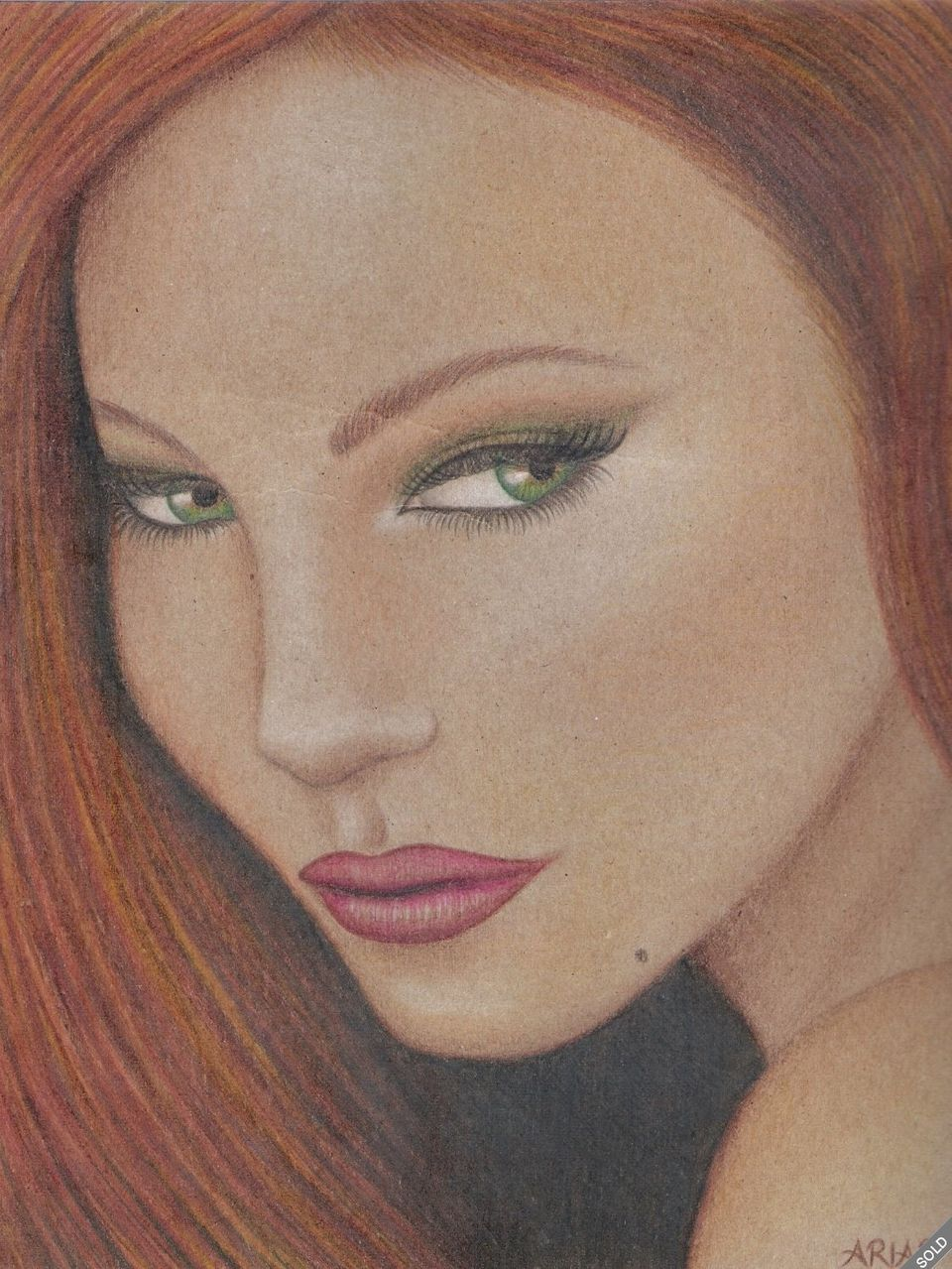 "According to the eBay listing, this is an original drawing of a ""red-Headed beauty,"" by Jodi Arias.  ""This is part of the 'Zo"