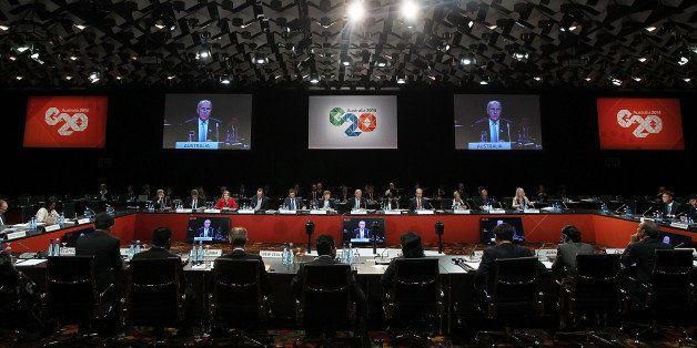 MELBOURNE, AUSTRALIA - SEPTEMBER 10:  Australian Minister for Employment, Senator Eric Abetz opens the G20 Labour and Employm