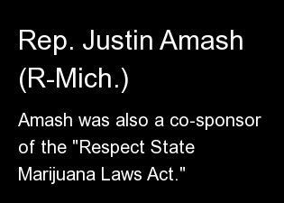 "Amash was also a co-sponsor of the <a href=""http://www.huffingtonpost.com/2013/04/12/respect-state-marijuana-laws-act_n_30705"