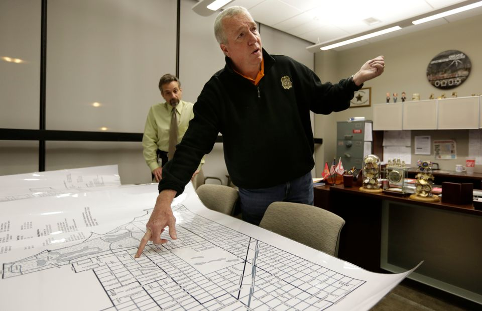 In this Dec. 11, 2012 file photo, Jack Riley, head of the Drug Enforcement Administration in Chicago, points out local Mexica
