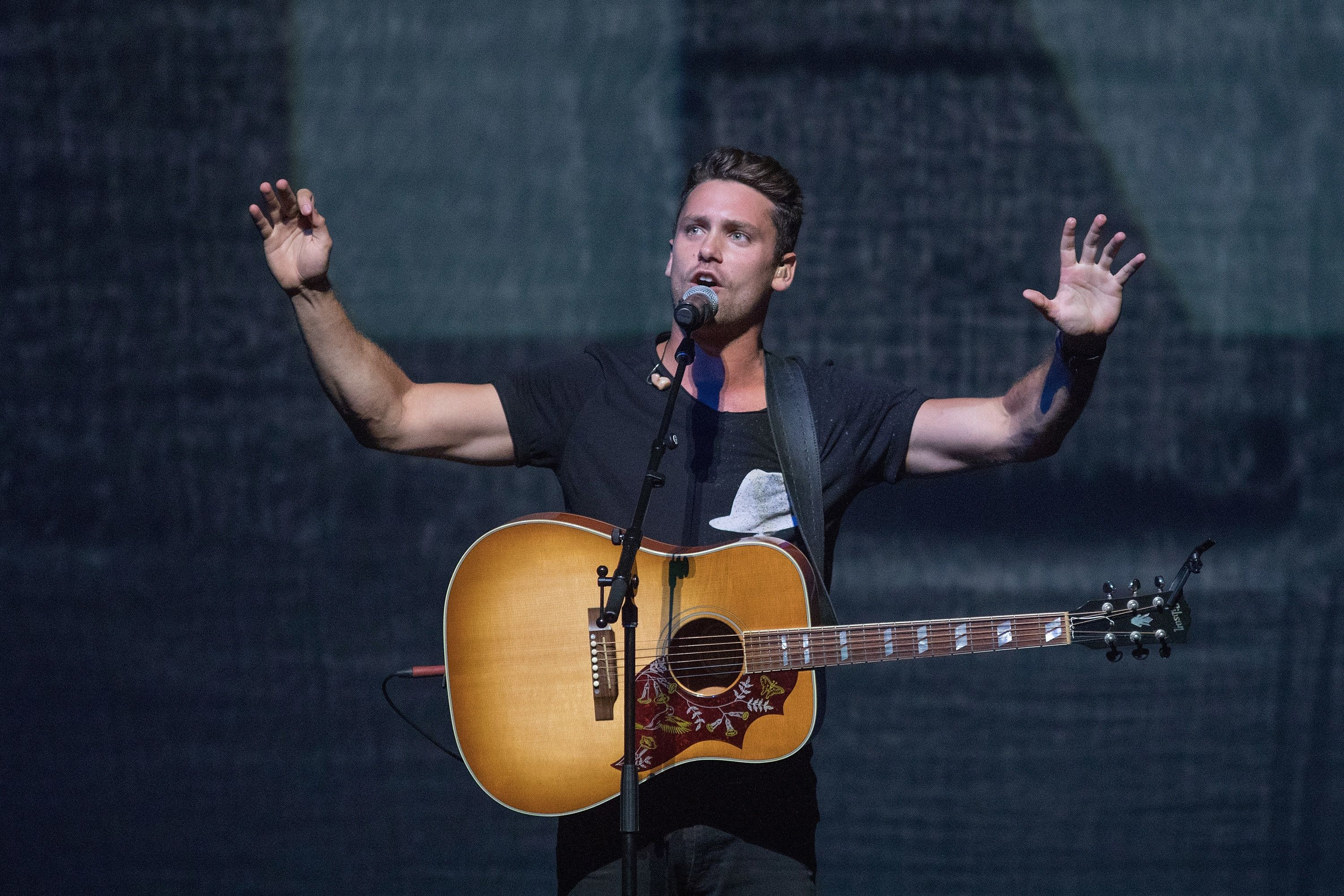 AUSTIN, TX - JUNE 07:  Singer-songwriter Bastian Baker performs in concert at the Frank Erwin Center on June 7, 2018 in Austin, Texas.  (Photo by Rick Kern/Getty Images)