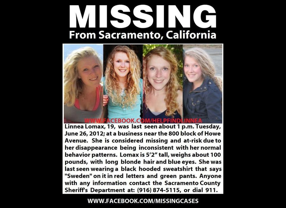 Linnea Lomax, a 19-year-old student at the University of California, Davis, was last seen alive in Sacramento, Calif., on Jun