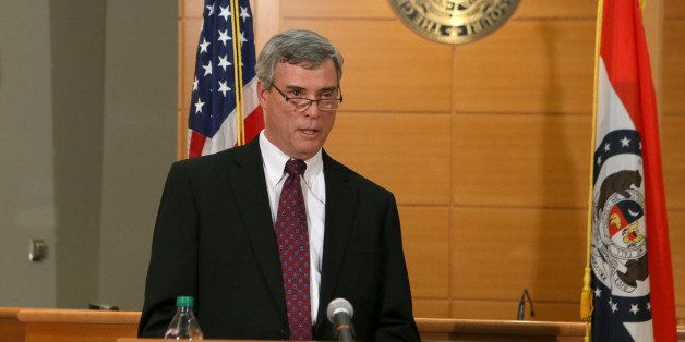 CLAYTON,  MO - NOVEMBER 24: St. Louis County Prosecutor Robert McCulloch announces the grand jury's decision not to indict Fe