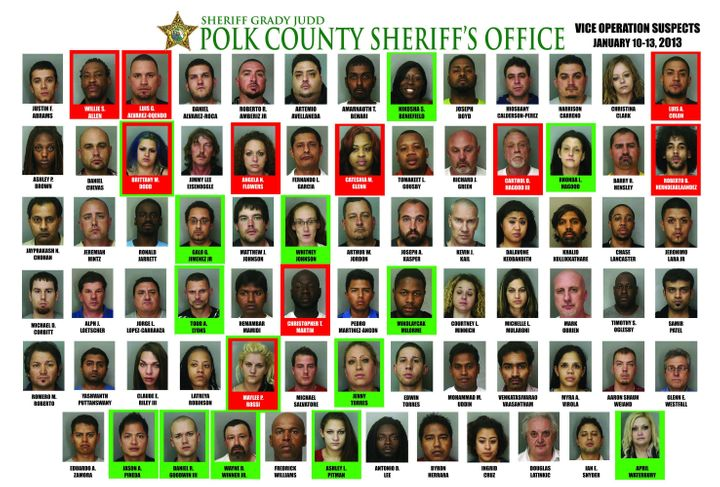 78 Arrests In 4-Day Prostitution Sting By Polk County