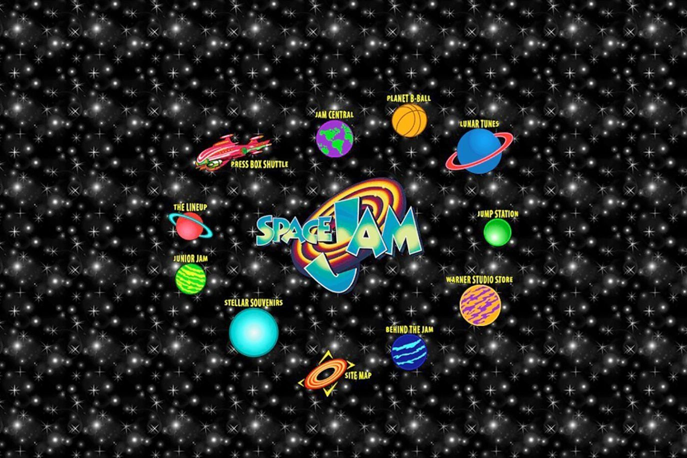"Screengrab of the official site for ""Space Jam.&rdquo"