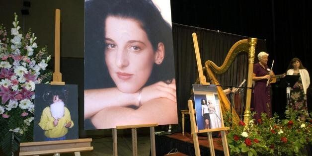 MODESTO, CA - MAY 28:  Photographs of Chandra  Levy are displayed during a memorial for her at the Modesto Centre Plaza 28 Ma