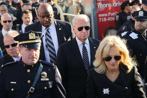 NEW YORK, NY - DECEMBER 27: U.S. Vice President Joseph Biden and his wife Jill (R) enter the Christ Tabernacle Church for the