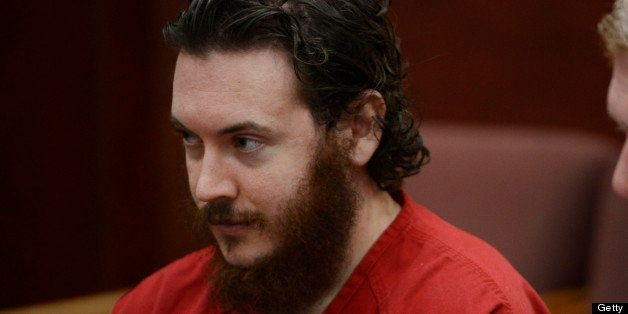 CENTENNIAL, CO - JUNE 04:  James Holmes, left, and his defense attorney, Daniel King, in court  Tuesday morning June 04, 2013