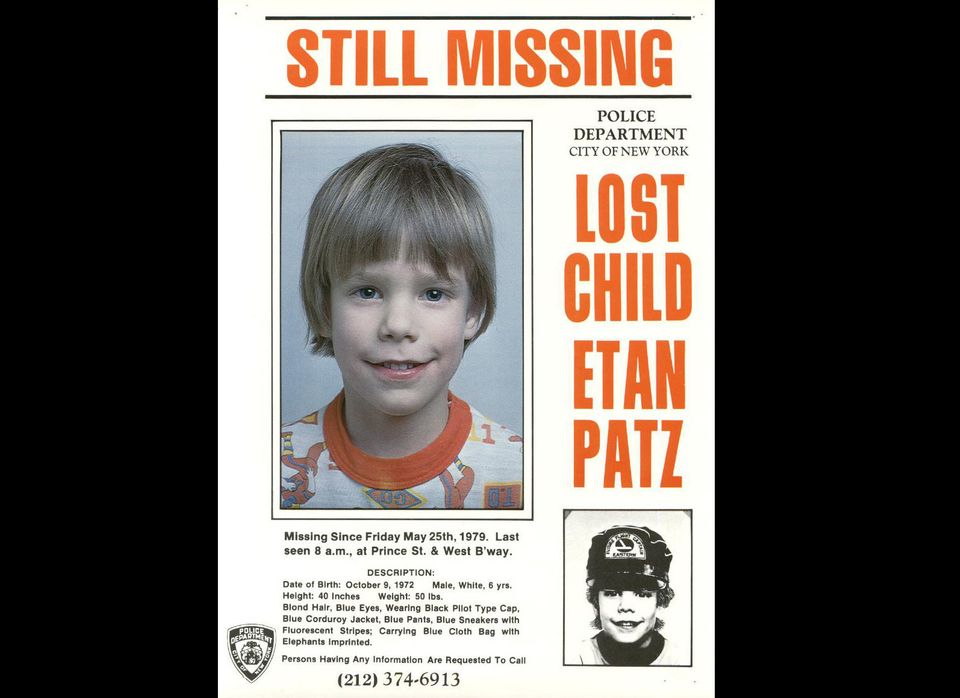 This 1979 photo provided by the New York City Police Department shows a missing child poster for Etan Patz. New York City Pol