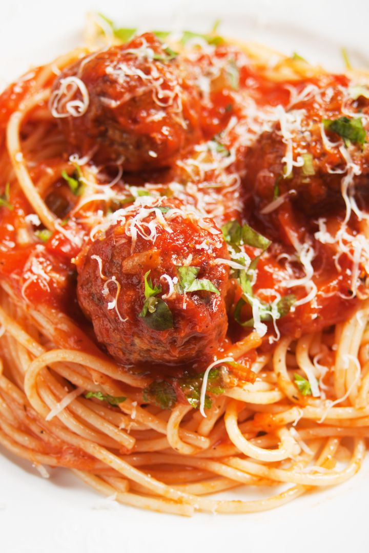 meatballs with tomato sauce and ...