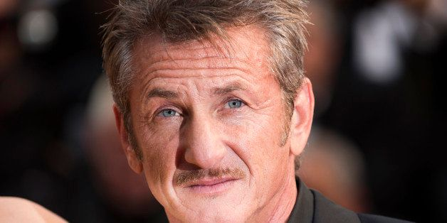 Sean Penn arrives on the red carpet at the screening of the film Mad Max: Fury Road at the 68th international film festival,