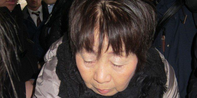 This picture taken on March 13, 2014 shows 67-year-old Japanese woman Chisako Kakehi, who was arrested in Kyoto on November 1