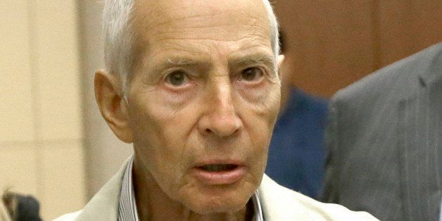 New York City real estate heir Robert Durst leaves a Houston courtroom Friday, Aug. 15, 2014. Charged with criminal mischief
