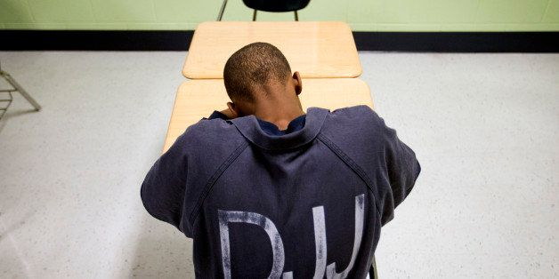 A juvenile resident sits in a classroom at the Department of Juvenile Justice's Metro Regional Youth Detention Center, Wednes