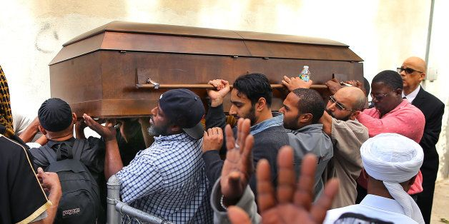 BOSTON - JUNE 5: A funeral service was held for accused terrorist who was shot in Roslindale earlier this week, Usaama Rahim,