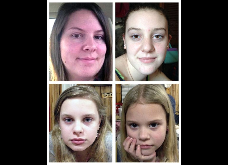 Jo Ann Bain (upper left) and her three daughters were abducted in Tennessee on April 27. The bodies of Bain and her oldest da
