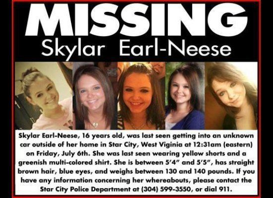 Authorities in Star City, W.V., are trying to locate Skylar Neese. The 16-year-old was last seen by her parents on the night