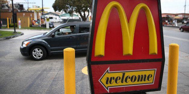 SAN FRANCISCO, CA - APRIL 22:  A car enters a McDonald's restaurant on April 22, 2015 in San Francisco, California. McDonald'