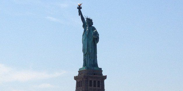 Statue of Liberty from the tour cruise.