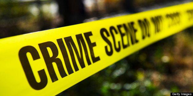 USA, New York State, New York City, Crime scene barrier tape