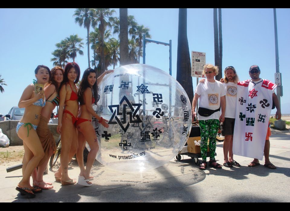 """The members of a UFO cult called the Raelians have declared June 23 as """"World Swastika Rehabilitation Day"""" and are holding de"""