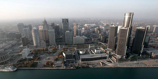 FILE - In this Nov. 2, 2005 file photo, the Detroit skyline is shown along the Detroit River. Lawyers began making their clos