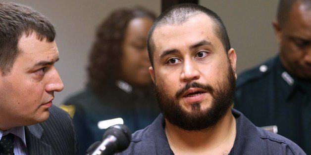 George Zimmerman, the acquitted shooter in the death of Trayvon Martin, answers questions from a Seminole circuit judge, Tues