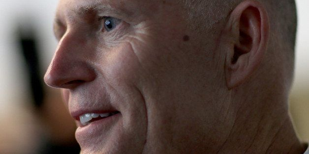 FORT LAUDERDALE, FL - SEPTEMBER 10:  Florida Governor Rick Scott attends a meeting with business leaders as he kicks off what