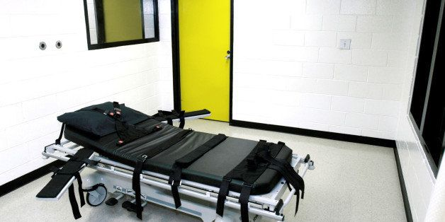 FILE - This Oct. 24, 2001 file photo shows the death chamber at the state prison in Jackson, Ga. The state of Georgia plans t