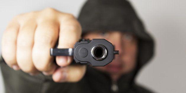 man with gun  gangster  focus...