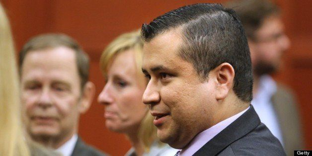 B583057987Z.1  SANFORD, FL - JULY 13:  George Zimmerman leaves the courtroom a free man after being found not guilty, on the
