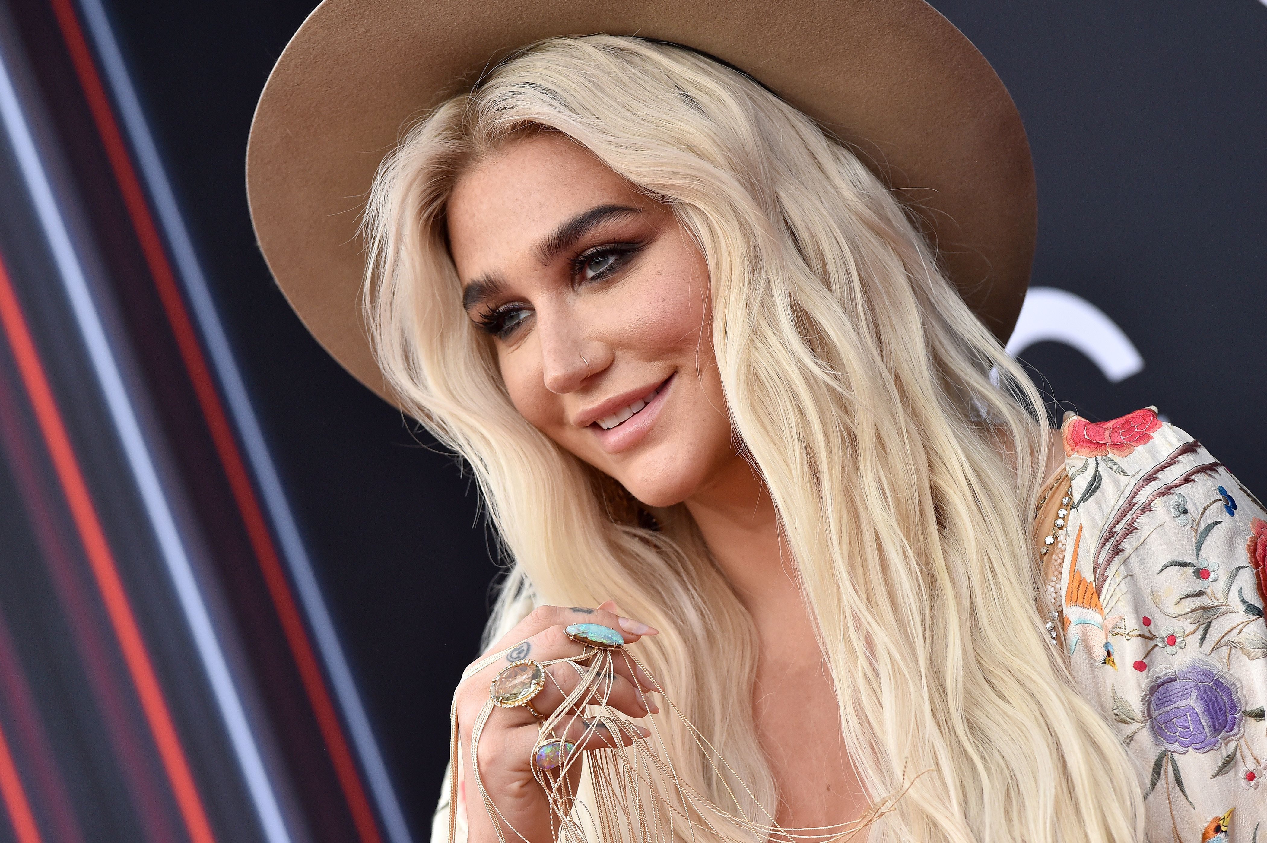 LAS VEGAS, NV - MAY 20:  Recording artist Kesha attends the 2018 Billboard Music Awards at MGM Grand Garden Arena on May 20, 2018 in Las Vegas, Nevada.  (Photo by Axelle/Bauer-Griffin/FilmMagic)