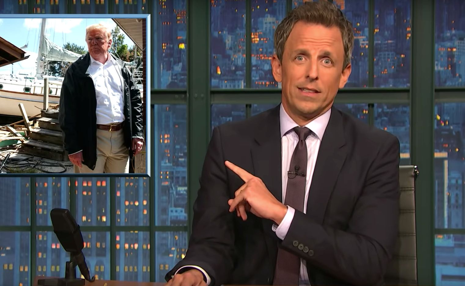 Seth Meyers' Takeaway From Trump's 'Super Weird' North Carolina Visit Is Spot