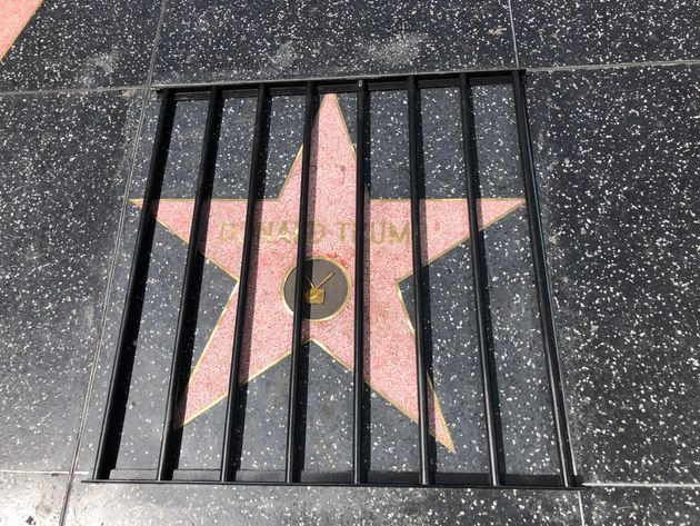 Artist Puts Prison Bars Over Donald Trump's Hollywood Walk Of Fame