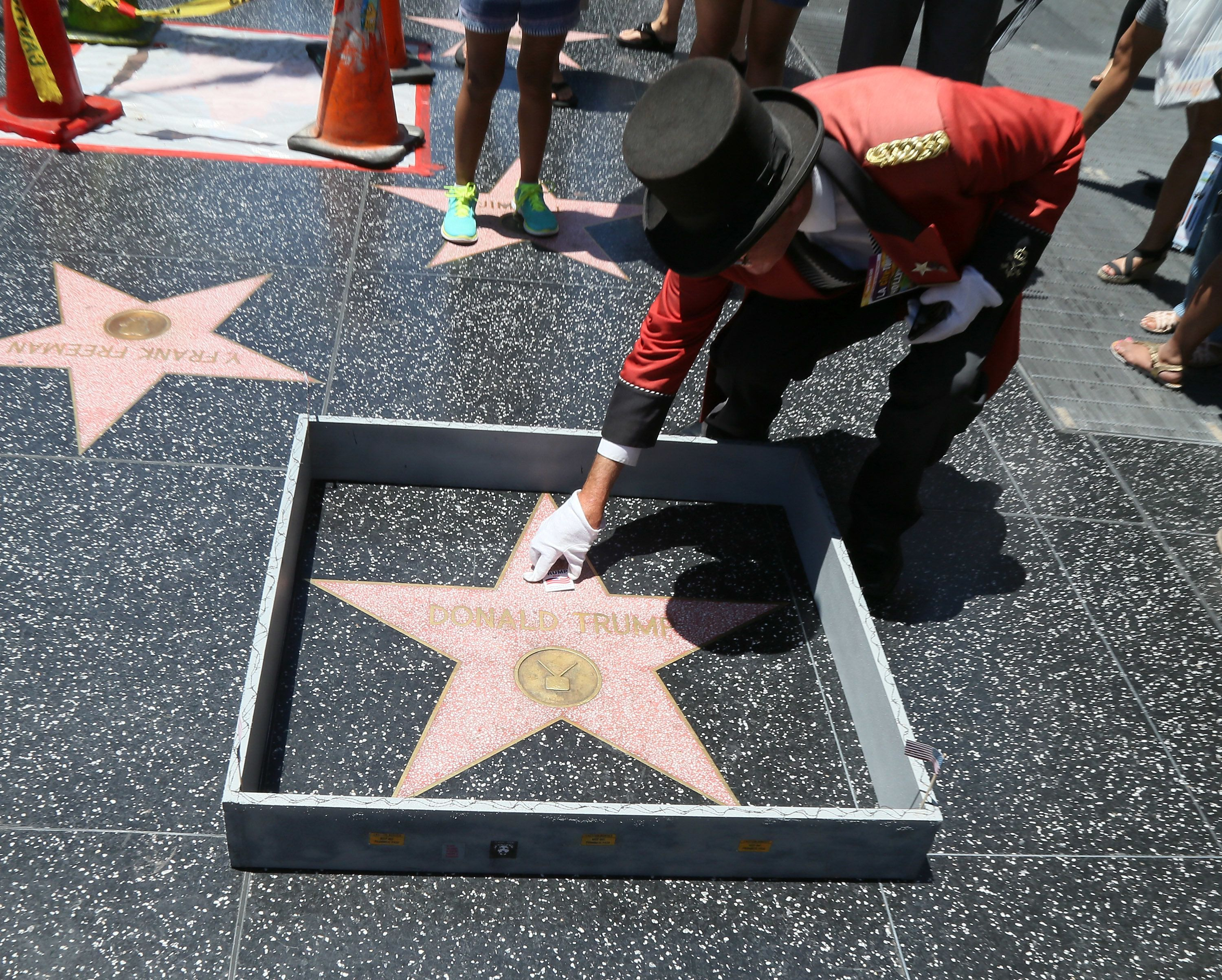 Trump's Hollywood Walk of Fame star placed behind bars by repeat offender
