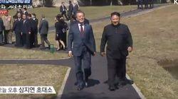 문 대통령과 김 위원장은 이번에도 둘이서만 산책을